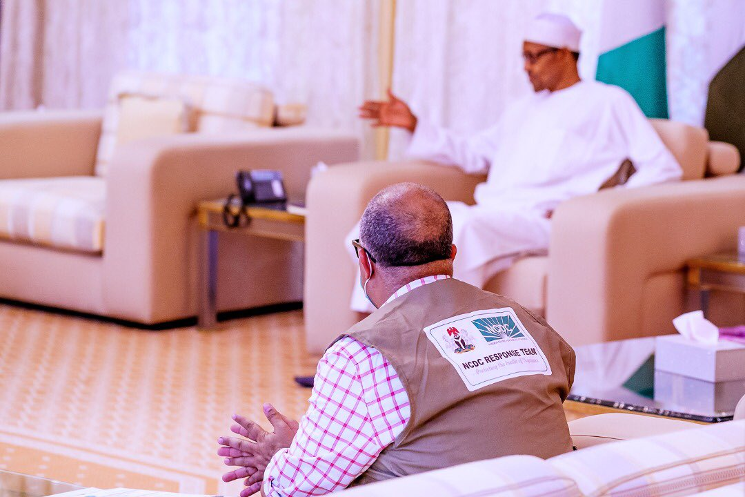 #COVID-19: BUHARI RECEIVES BRIEFING FROM THE MINISTER OF HEALTH