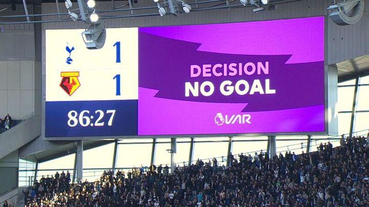 Dele Alli's equaliser was incorrectly displayed on the scoreboard after a VAR check