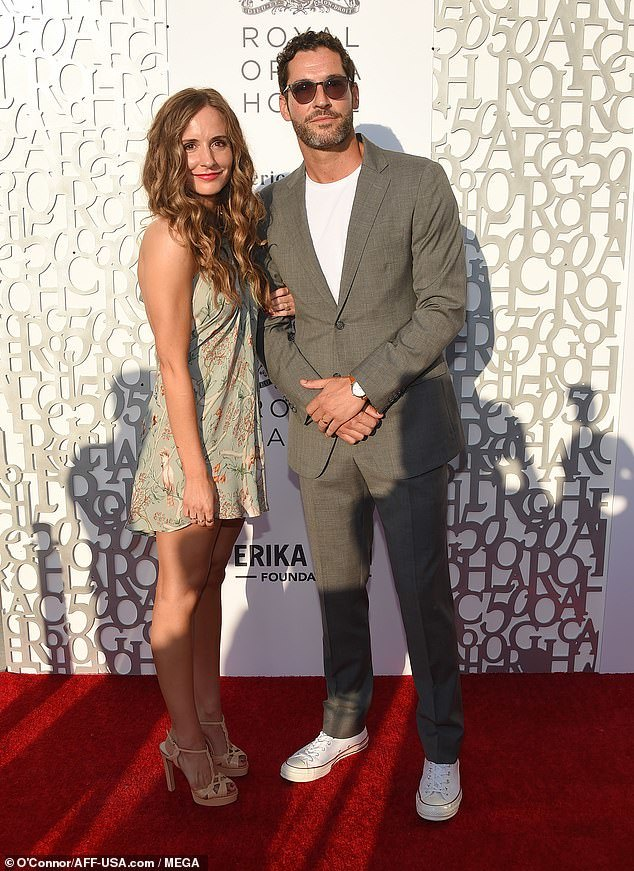 Lucifer Star Tom Ellis And New Wife Meaghan Oppenheimer Seen For The First Time Since Wedding